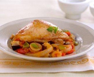 Recetas de pollo a la campesina y arroz con pollo