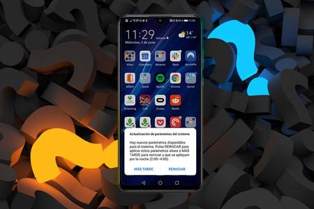 """Qué significa el aviso """"actualización de parámetros del sistema"""" de Huawei"""