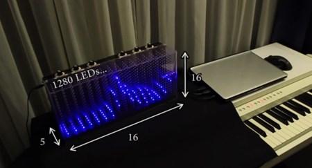 ¿Tienes 1280 LED y mucho tiempo? Puedes hacerte un visualizador 3D
