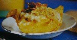 Patatas rellenas con setas de San Jorge