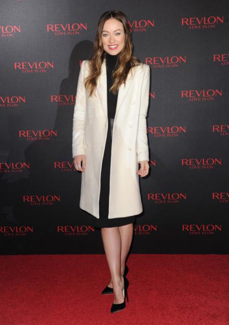 Olivia Wilde Fiesta Vestido Abrigo