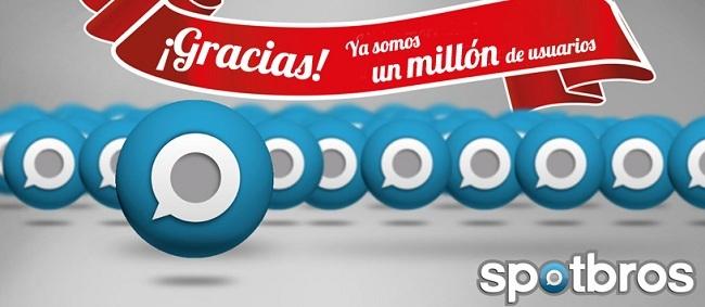 Un millón de usuarios de Spotbros