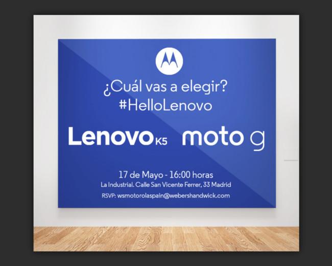 Lenovo Moto 17 Mayo