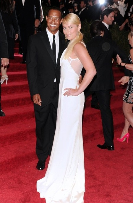 Golfplayer Tiger Woods and skier Lindsey Vonn