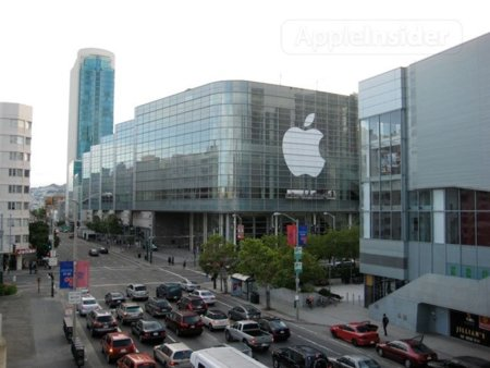 apple wwdc 2010 evento moscone center san francisco keynote carteles california