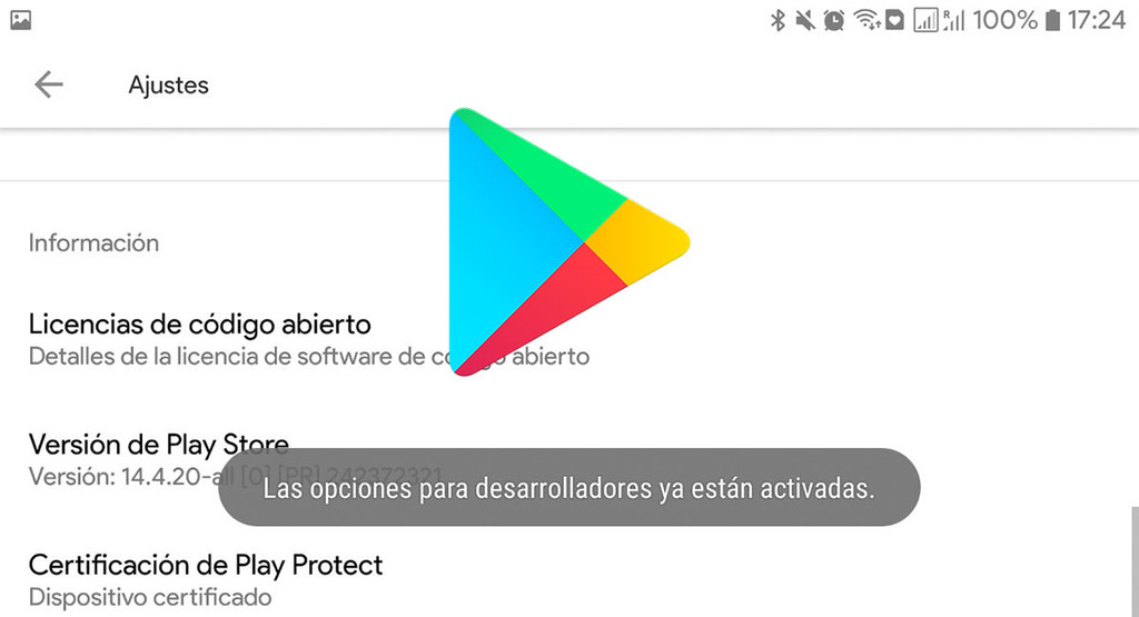 How to activate options for developers on Google Play