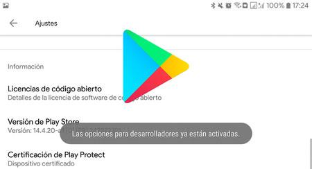 Cómo activar las opciones para desarrolladores de Google Play