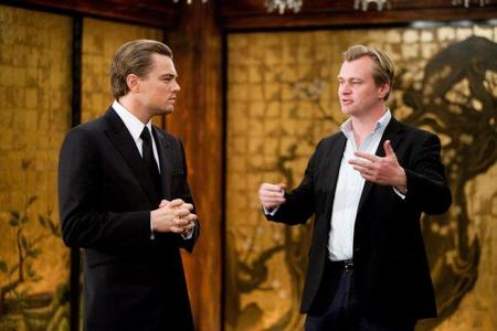 Nolan y DiCaprio en el rodaje de