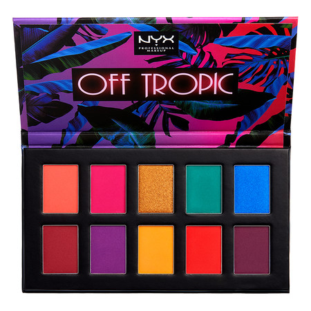 nyx cosmetics off tropic sombras