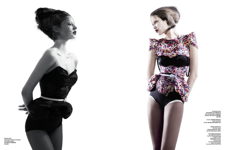El estilo pin-up por Miranda Kerr y Ana Beatriz Barros para V Magazine