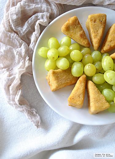 Triángulos de Camembert fritos. Receta de aperitivo