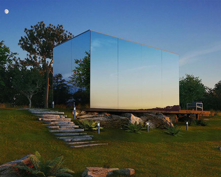 Mirrored Prefab Cabin Architecture 220617 114 01