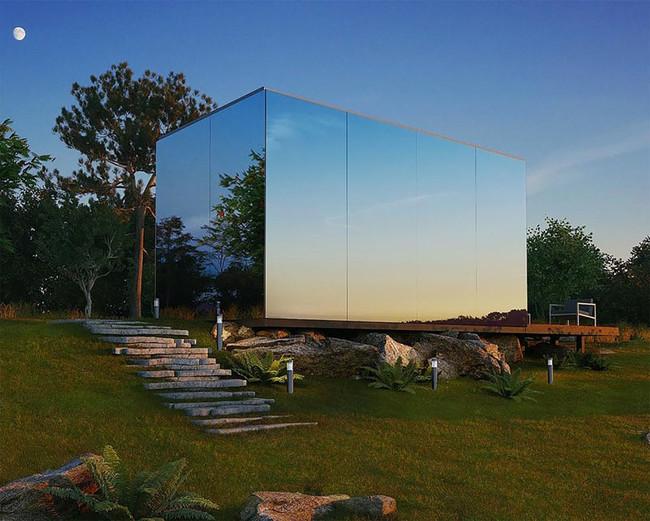 Mirrored Prefab Cabin Architecture 220617 114 01