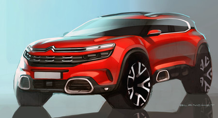 El Citroën C5 Aircross estará en el Salón de Shanghái, aunque ya se ha filtrado