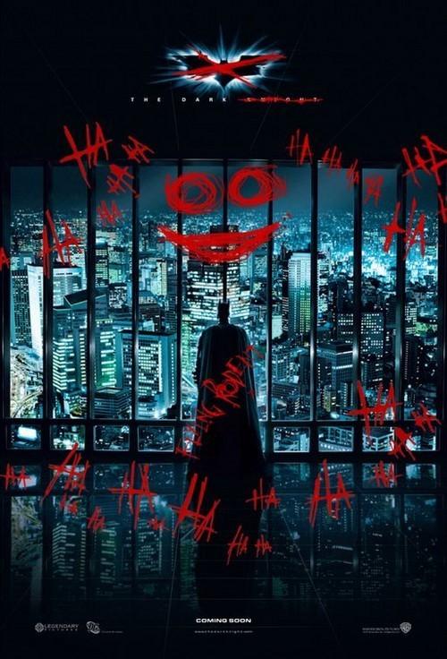 El Joker pinta 'The Dark Knight'