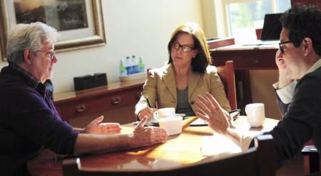 George Lucas, Kathleen Kennedy y J.J. Abrams