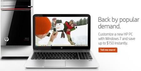 HP vuelve a promocionar Windows 7, ¿acto desesperado por vender PC's?