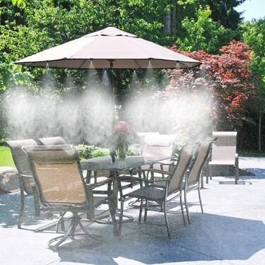 Refréscate este verano con esta selección de nebulizadores y duchas para exterior