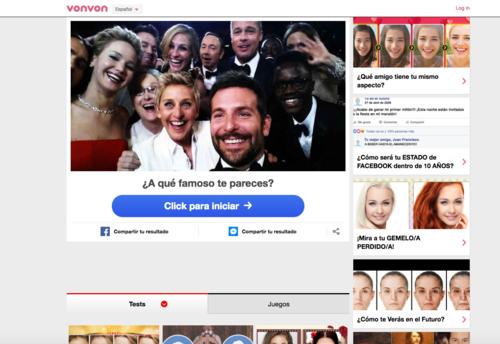 Los peligros de averiguar 'a qué famoso te pareces' en Facebook