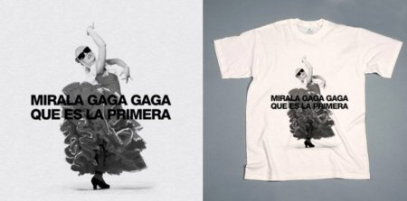 Camiseta Lady Gaga sevillana