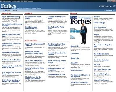 Microsoft Digital Reader, el periódico en el ordenador