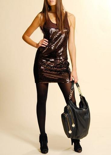 vestidos nochevieja: vestido bronce mango outlet