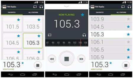 La aplicación Radio FM de Motorola se actualiza con Material Design