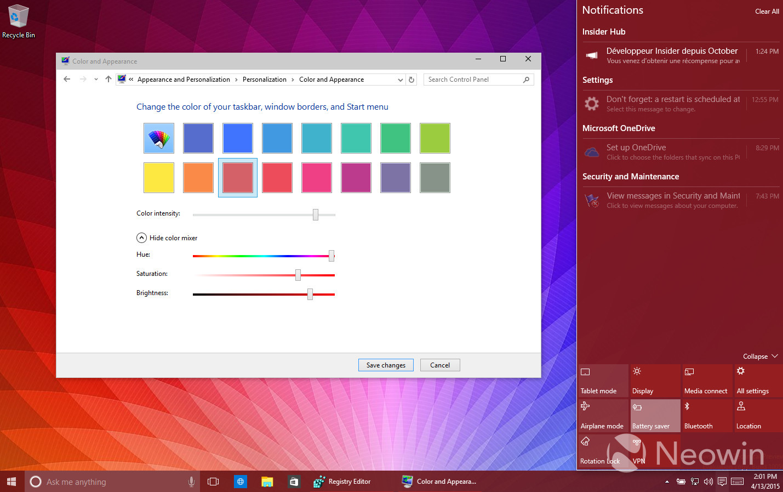 Foto de Temas de colores en Windows 10 build 10056 (10/16)