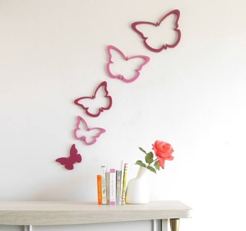 Foto de Una buena idea: decorar la pared con mariposas (1/5)