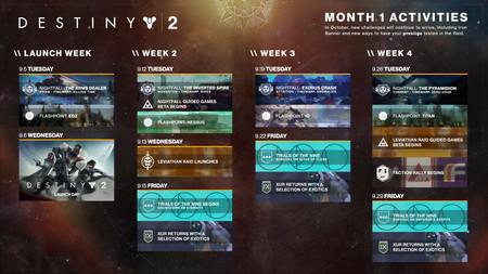 Destiny 2 calendario