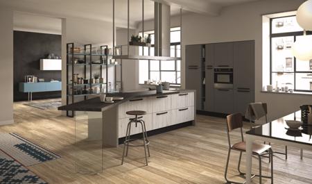 Faro y Quore: los estilizados modelos de ARAN Coucine para fusionar cocinas y salones en abierto
