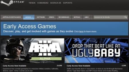 Valve ofrece acceso anticipado a una serie de juegos en desarrollo