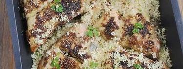 Pollo asado con dukkah y cuscús, receta con aires exóticos para una comida completa