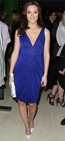 Leighton Meester y su look en azul