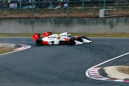 Senna Prost Suzuki F1 1989