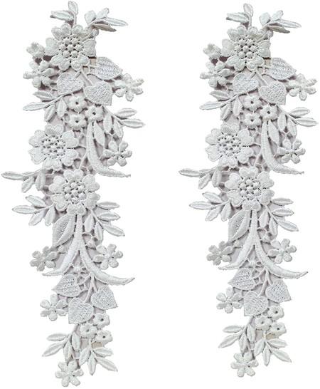 Aplique De Encaje Con Diseno De FloresAplique de encaje con diseño de flores