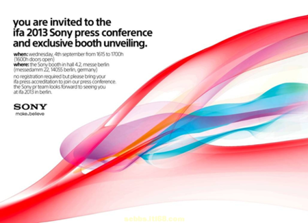Sony IFA 2013 Press Invite