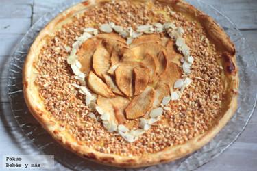 Tarta de corazón de manzana para San Valentín. Receta