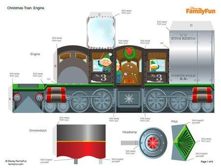 El Tren de los elfos de Navidad