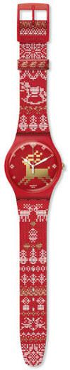 Swatch Red Knit, su reloj especial para esta Navidad