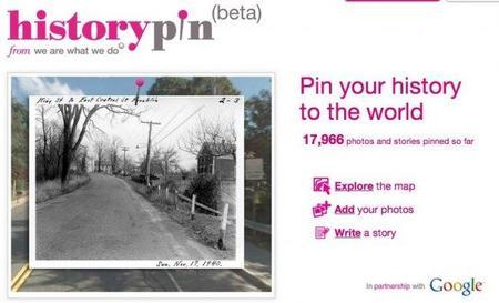 Historypin, Google Maps y fotos antiguas en uno
