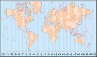 ¿Cómo se establece la diferencia horaria entre países?