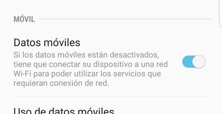 Desconectar los datos en Android