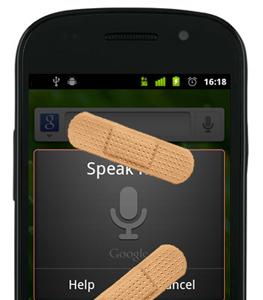 Nexus S corrige el problema con la Búsqueda por voz con Android 2.3.6