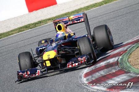 Test del Circuit de Catalunya. Sebastian Vettel vuelve a ser el más rápido en el segundo día