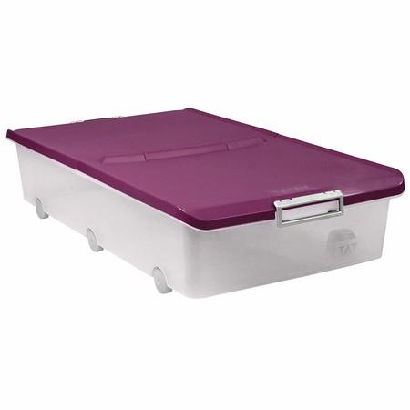 Más espacio aprovechable bajo las camas con la caja de almacenamiento Tatay de 63 litros : ahora está rebajada a 20,24 euros