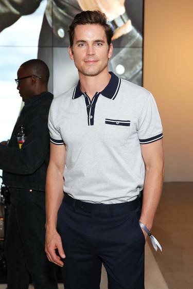 Con polo y mocasines, Matt Bomer domina el Front-row de la semana de la moda de Nueva York