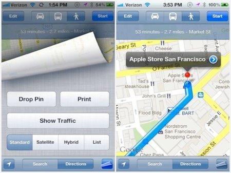 iOS 5 traerá una versión totalmente renovada de la aplicación Mapas