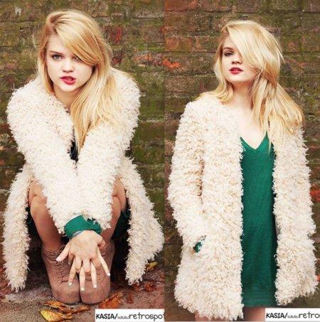 Borrego abrigo Moda en la calle