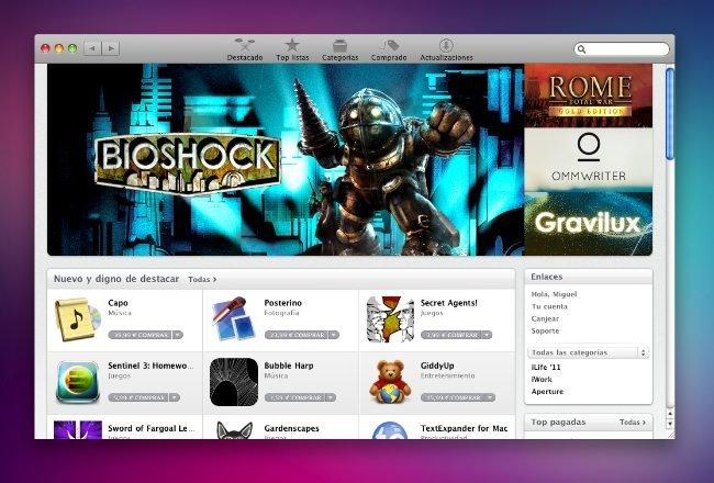 apple mac app store os x snow leopard programas aplicaciones